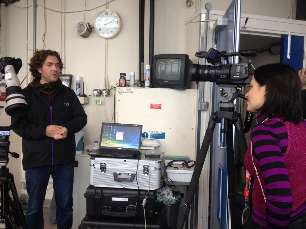 Jeffrey Martin being interviewed for BBC Click online